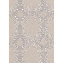 Tapetti Secrets 5990-09 0,53x10,05 m harmaa/valkoinen/violetti non-woven