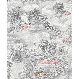 Tapetti Tapetit.fi Kaleidoscope Mayang Grey 90661