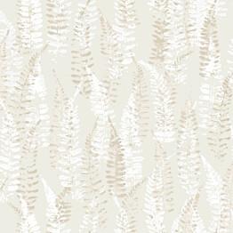 Tapetti YALA Fern Beige YA19540 0,53x10,05 m valkoinen/harmaa/beige non-woven