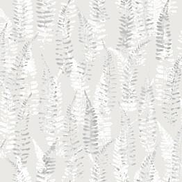 Tapetti YALA Fern Grey YA19541 0,53x10,05 m hopea/harmaa/valkoinen non-woven