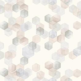 Tapetti YALA Honeycomb Pink YA19552 0,53x10,05 m monivärinen non-woven