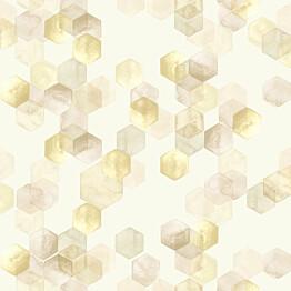 Tapetti YALA Honeycomb Yellow YA19553 0,53x10,05 m monivärinen non-woven