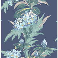 Tapetti 1838 Wallcoverings Aurora sininen 0,52x10,05 m