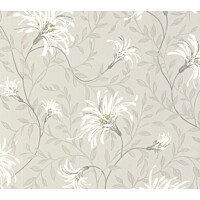 Tapetti 1838 Wallcoverings Fairhaven harmaa/vihreä 0,52x10,05 m