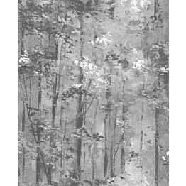 Tapetti 1838 Wallcoverings Glade mustavalkoinen 0,52x10,05 m