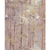 Tapetti 1838 Wallcoverings Glade punertava 0,52x10,05 m