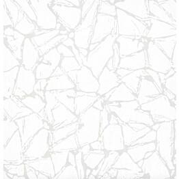 Tapetti 1838 Wallcoverings Glaze valkoinen 0,52x10,05 m