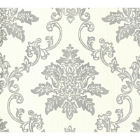 Tapetti 1838 Wallcoverings Hampton beige/hopea 0,52x10,05 m