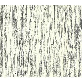 Tapetti 1838 Wallcoverings Helmsley Foil  hopea/valkoinen 0,52x10,05 m