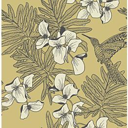 Tapetti 1838 Wallcoverings Hummingbird keltainen 0,52x10,05 m
