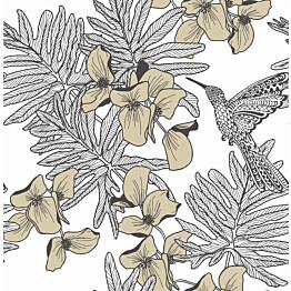 Tapetti 1838 Wallcoverings Hummingbird kultainen 0,52x10,05 m