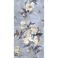Tapetti 1838 Wallcoverings Madama Butterfly sininen 0,52x10,05 m