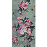 Tapetti 1838 Wallcoverings Madama Butterfly vihreä 0,52x10,05 m
