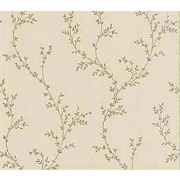 Tapetti 1838 Wallcoverings Milton beige/kulta 0,52x10,05 m