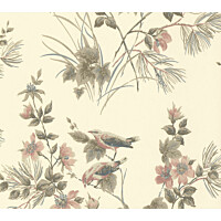 Tapetti 1838 Wallcoverings Rosemore beige 0,52x10,05 m