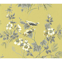 Tapetti 1838 Wallcoverings Rosemore vihreä 0,52x10,05 m