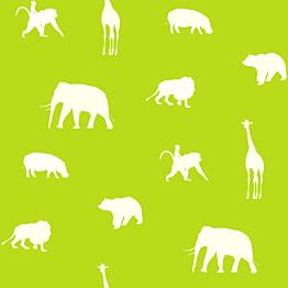 Tapetti Animals 137336 0,53x10,05 m limenvihreä non-woven
