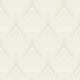 Tapetti Baroque 127603 0,53x10,05 m valkoinen/beige non-woven