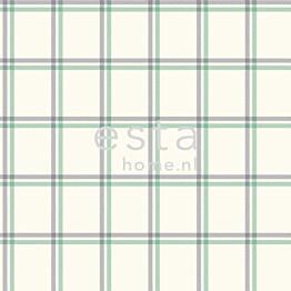 Tapetti Checks 136435 0,53x10,05 m sininen/vihreä non-woven