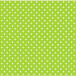 Tapetti Dots 137005 0,53x10,05 m limenvihreä, valkoinen