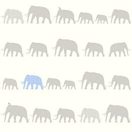 Tapetti Elephant 137331 0,53x10,05 m hopea/vaaleansininen non-woven
