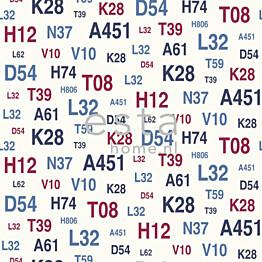 Tapetti Emblems 136438 0,53x10,05 m sininen/punainen non-woven