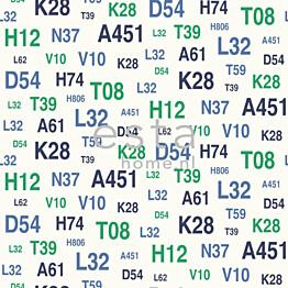 Tapetti Emblems 136439 0,53x10,05 m vihreä/sininen non-woven