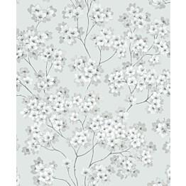 Tapetti Feeling FE20222 Japanese Flower Ecodeco 0,53x10,05 m sininen