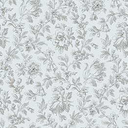 Tapetti Fine Flowers 127627 0,53x10,05 m siniharmaa non-woven