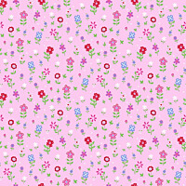 Tapetti Flowers 137318 0,53x10,05 m vaaleanpunainen non-woven