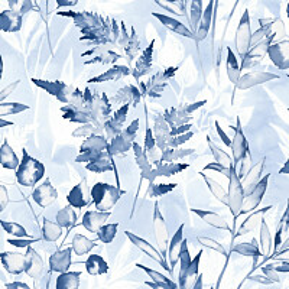 Tapetti Glasshouse 90293 Cedar Navy 0,53x10,05 m sininen