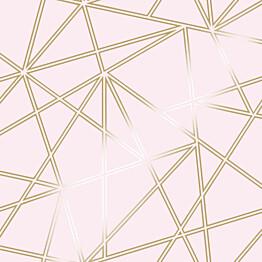 Tapetti Glasshouse 90275 Omega Dusky Pink 0,53x10,05 m vaaleanpunainen/kulta