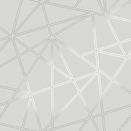 Tapetti Glasshouse 90271 Omega Grey 0,53x10,05 m harmaa/hopea
