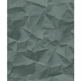 Tapetti HookedOnWalls Crinkle vihreä 0,52x10,05 m