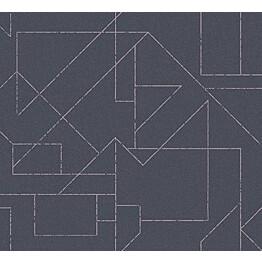 Tapetti HookedOnWalls Outline tummansininen 0,70x10,05 m