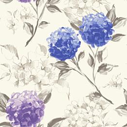 Tapetti Hydrangeas 128022 0,53x10,05 m sininen/violetti non-woven