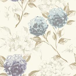 Tapetti Hydrangeas 128023 0,53x10,05 m vaaleansininen/liila non-woven