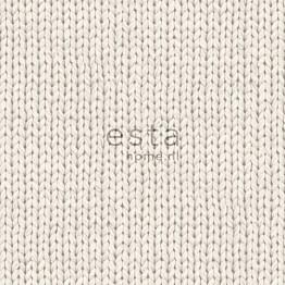 Tapetti Knitting 137720 0,53x10,05 m beige non-woven