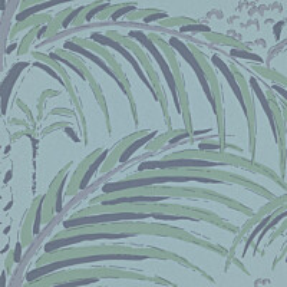 Tapetti Långelid/Von Brömssen Palm house turkoosi 0,53x10,05 m non-woven
