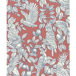 Tapetti Långelid/Von Brömssen Talk about cockatoos punainen 0,53x10,05 m non-woven