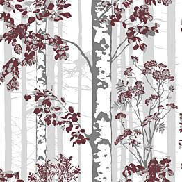 Tapetti Luontopolku 5219-1 0,53x11,2 m punainen