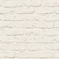 Tapetti Natural Forest White Brick NF3501 0,53x10,05 m beige