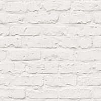 Tapetti Natural Forest White Brick NF3504 0,53x10,05 m valkoinen