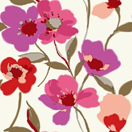 Tapetti Poppies 128029 0,53x10,05 m punainen/liila non-woven
