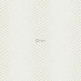 Tapetti Raw Elegance 347338 0,53x10,05 m hopea/valkoinen/kiiltävä
