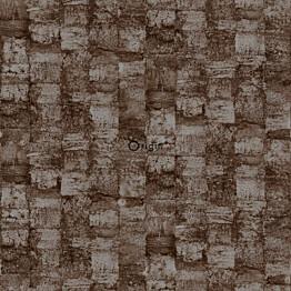 Tapetti Raw Elegance 347359 0,53x10,05 m ruskea/hopea/kiiltävä