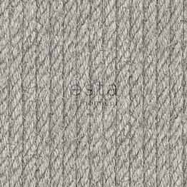 Tapetti Rope 138248 0,53x10,05 m tummanharmaa