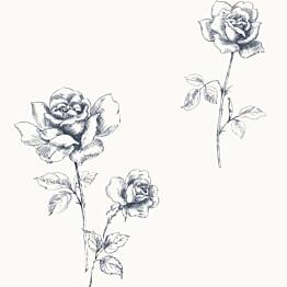 Tapetti Roses 127610 0,53x10,05 m sininen non-woven