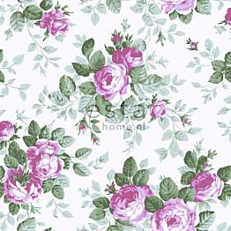 Tapetti Roses 138110 0,53x10,05 m purppura non-woven