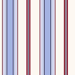 Tapetti Stripes 136416 0,53x10,05 m vaaleansininen/punainen non-woven